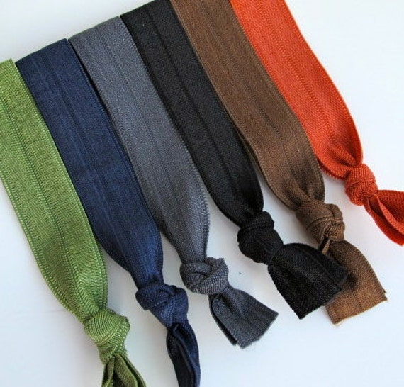 bold and beautiful ponytail holder elastic hair ties knotted ponytail holders knotted bracelets  neutral hair ties