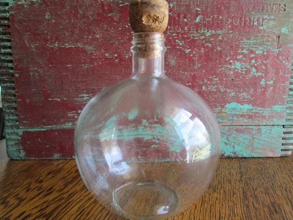 Unique, Round Glass Bottle/ Liquor Bottle
