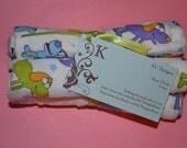 Cute multi colored puppy 4 piece washcloth set