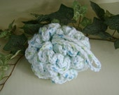 Crochet Scrubby Scrubbie Shower Bath Poof Washcloth Kitchen Dish Cloth Bathroom Wash Cloth