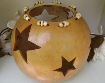 Gourd Art Bowl  Decoration  Shelf Sitter Rustic