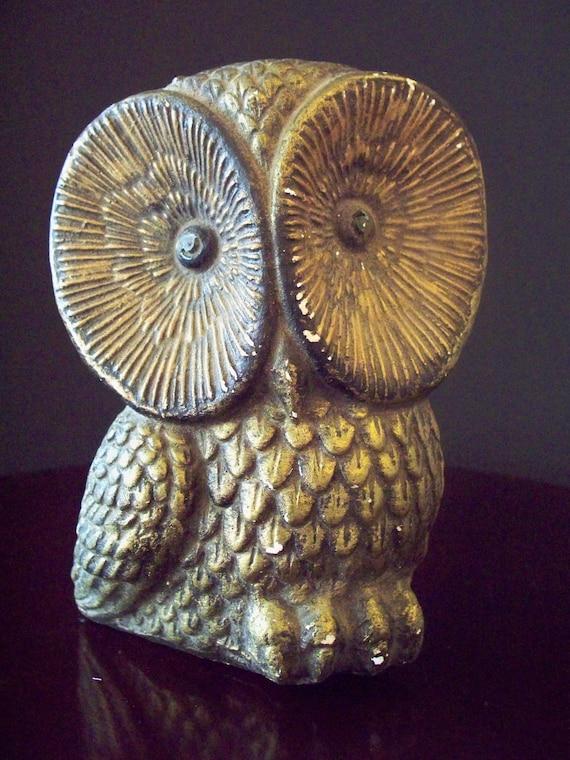 Vintage Owl Penny Bank