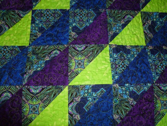 FREE SHIPPING Lime Sherbet Gone Wild Quilt