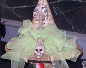 Witches Hat Centerpiece: Gothic Bones and Bling