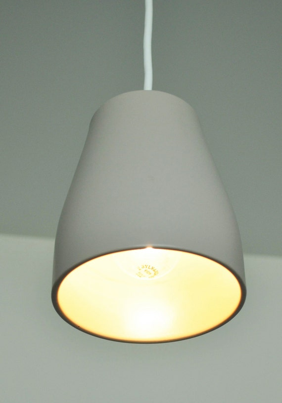 Sale - Potter Pendant Light Fixture - Warm Gray