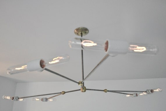 Custom Listing for Bob - Modern Industrial Chandelier - The Spider Light, Steampunk Light Fixture