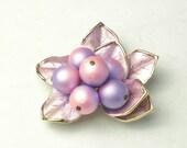 Vintage Lavender Enamel Detail Leaves Bead Costume Jewelry BROOCH Pin on Etsy