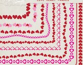Love Heart Frames - 8.5 x 11 - Digital Clipart for card making, scrapbooking, invitations, printed products, commercial use