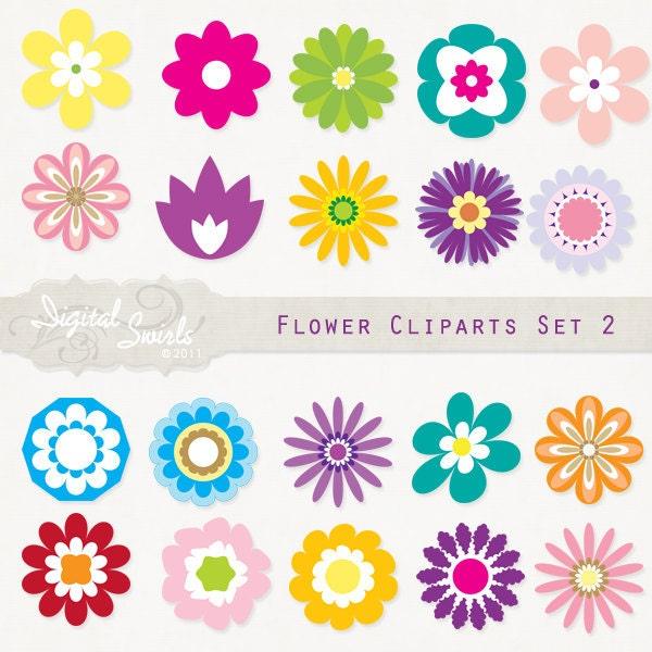 free scrapbook flower clipart - photo #5