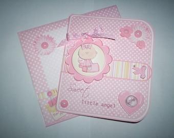 New baby girl card.