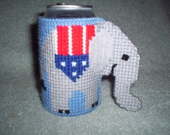 Republican soda or beer can holder.