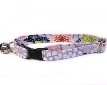 Garden in Lavender Adjustable Cat Collar