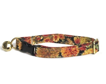 Dandelions at Sunset Adjustable Cat Collar
