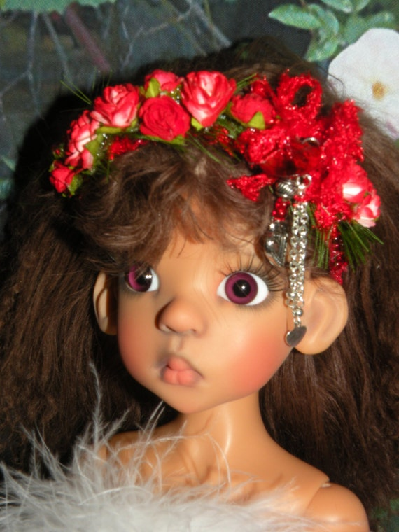 Look of Love ()  Beaded Floral HEADBAND for Kaye Wiggs MSD SD Dolls Head Size 8 9