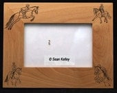 Etched Eventing Horse Wooden Picture Frames