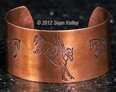 Jumping Horses Copper Cuff