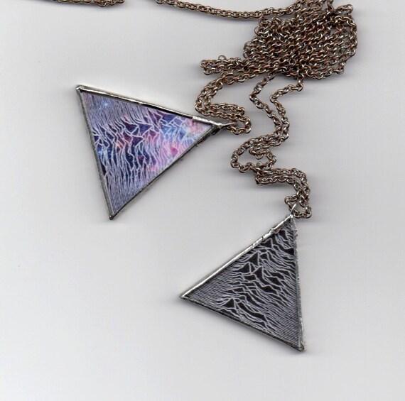 Unknown Pleasures Triangle Pendants