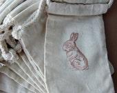 Peter Rabbit - Baby Shower Favor Bags - Set of 10 Bunny Cotton Favor Bags