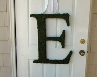 Moss Letter Covered Monogram Letter - Moss Wedding Monogram ( 24 inches )