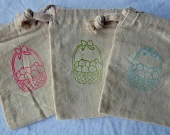 Easter Basket Favors, Easter Basket Favor Bags - 10 3x5 Easter Treat Bags (SHIPS IN 2 DAYS)