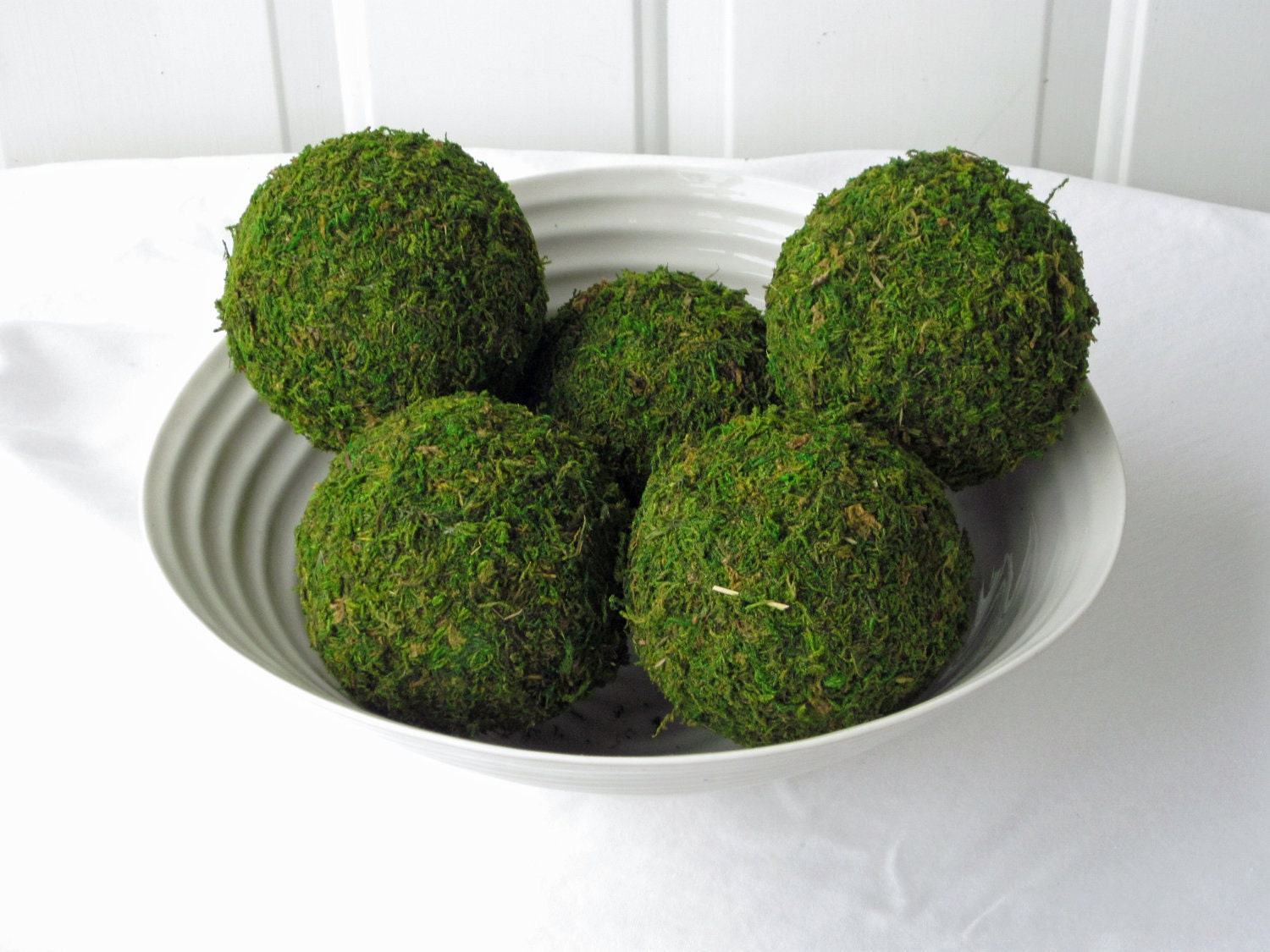Moss pomander balls set of inch for home or