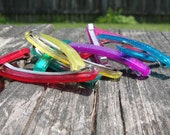 Vintage Simple Colored Sparkle Barrettes, Set of 6 pairs, Assorted