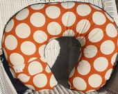 Sweet Potato Mod Dot and Brown Minky Boppy Cover