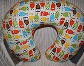 Zoology Owls and Minky Boppy Pillow Cover