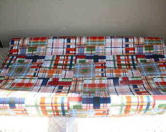 Going Coastal Plaid Contour Changing Pad Cover