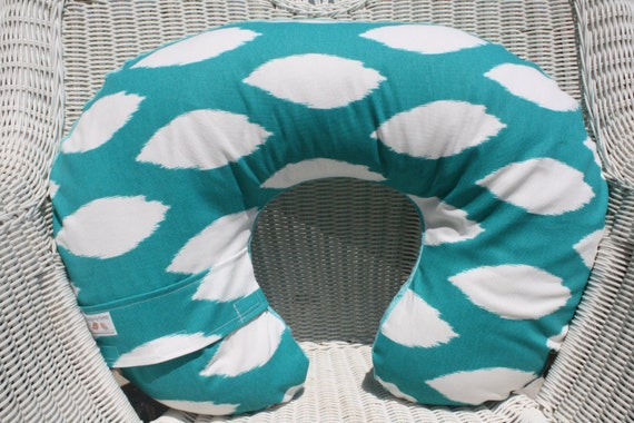 Turquoise Chipper and Minky Boppy Cover