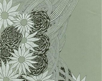 Flowerlines Art Print: 8x10 - LAST ONE