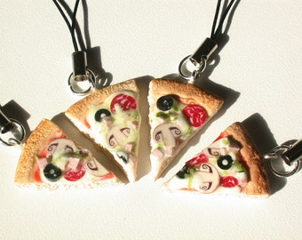 Pizza Phone Charm.