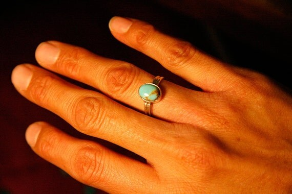 Sterling silver ring with turquoise