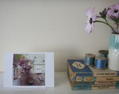 5ftinf Table 'Pink Flowers' - Greetings Card