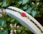Pink Aventurine Coin Bracelet