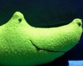 Stuffed Animal Green Alligator- plush Black Friday Etsy/Cyber Monday Etsy
