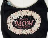 Fringed Mom Repurposed T-Shirt Bag
