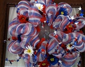 The Rubicon - Patriotic Mesh Wreath for 4th of July