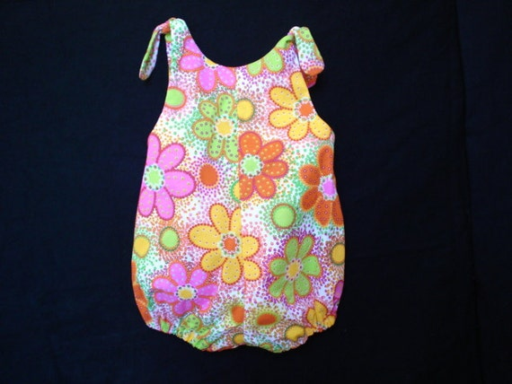 A bright sunny fun bubble suit.