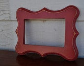Handmade 4x6 Brick Red Distressed Wooden Picture Frame (Ericka Style) FREE SHIPPING