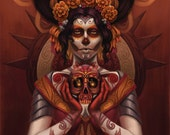 """Day of the Dead 13"""" x 19"""" Print"""