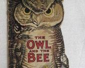 v i n t a g e owl and the bee collectible childrens book antique