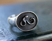 Sterling Silver Snake Signet Ring--Healing and Regeneration