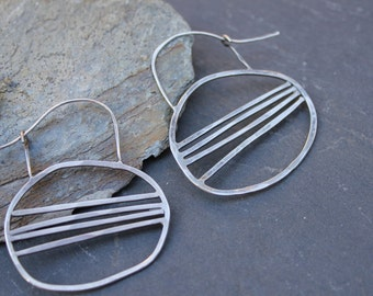 sterling silver horizon earrings