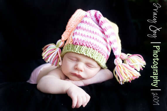 Items similar to Jester Hat - PDF Knit Pattern - All Sizes on Pattern Baby to...