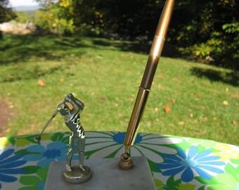 Vintage Golf Trophy and Pen Holder