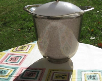 Vintage Glittered Ice Bucket