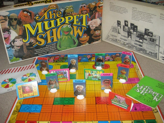 Vintage 1977 The Muppet Show Board Game