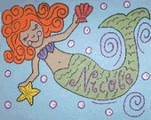 RESERVED FOR cdominicus 2 Personalized Mermaids Wall Art