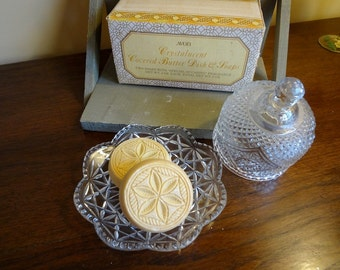 Vintage Avon Butter Dish with Original Soaps and Box - REDUCED